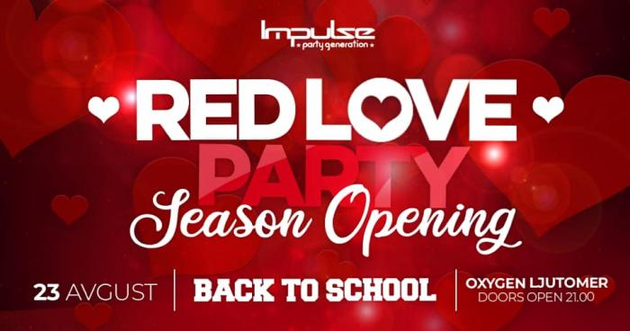 Red Love Party Prlekija Diskoteka Oxygen