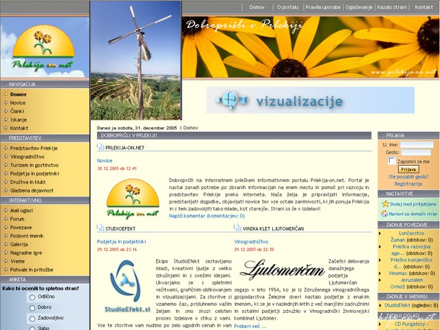 Prlekija-on.net 2005-2008