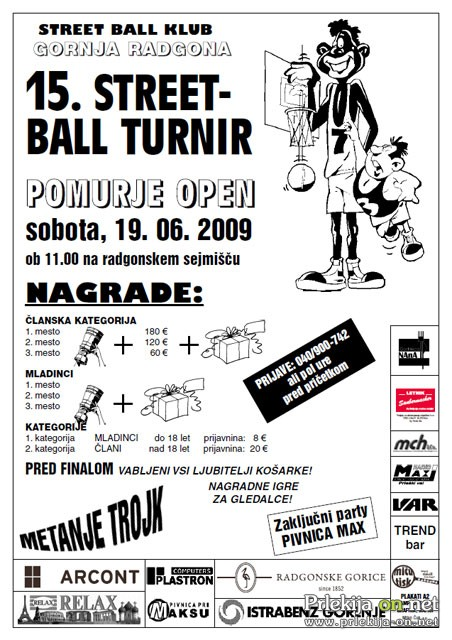 Street Ball turnir Pomurje open 2010