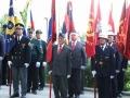 Predstavniki policije, gasilcev in vojnih veteranov
